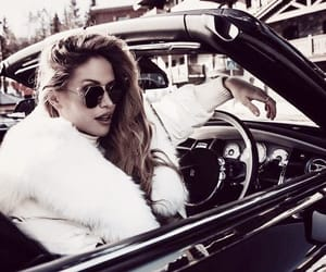 accessories, beautiful girl, and vintage car image