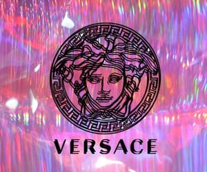 Versace, pink, and wallpaper image