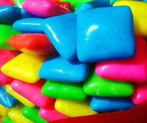 gum, colors, and candy image
