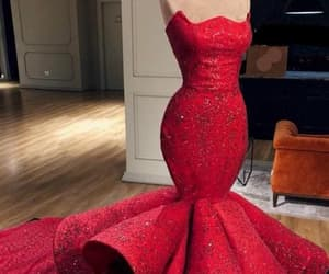 evening dresses, prom dress, and red prom dress image