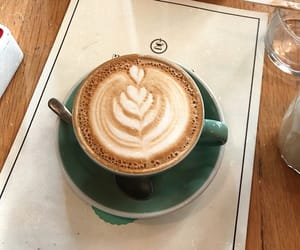 coffee, latte art, and coffee time image