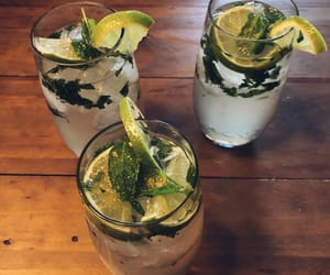 drink, lime, and mint image