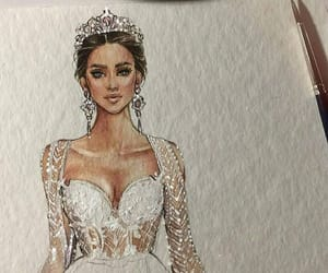 bride, crown, and fashion image