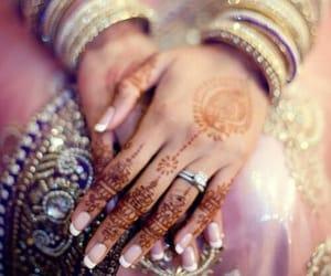 bride, pakistan, and henna image