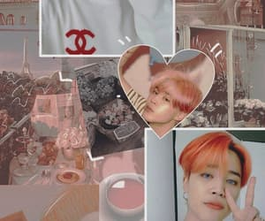 aesthetic, parkjimin, and orange image