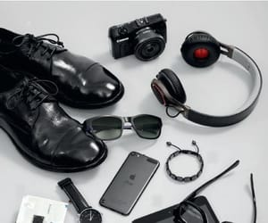accessories, tools, and black and white image