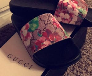 gucci, slides, and woman image