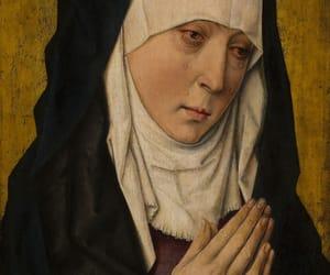 art, nun, and sorrowing image