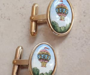 etsy, wedding cufflinks, and hot air balloon image