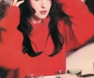 black hair, red, and monica bellucci image