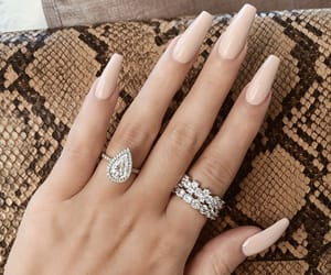 nails, diamond, and Nude image