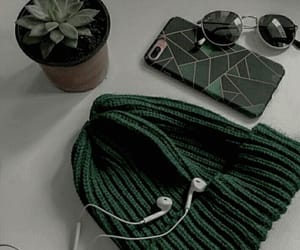 aesthetic, green, and dark green image