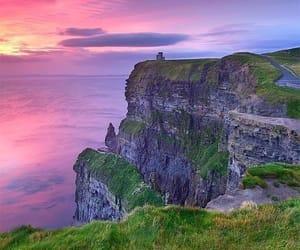ireland, sunset, and nature image