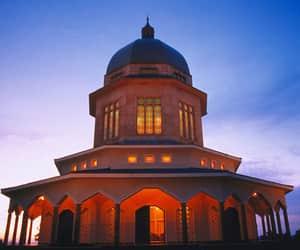 architecture, uganda, and bahai temple image