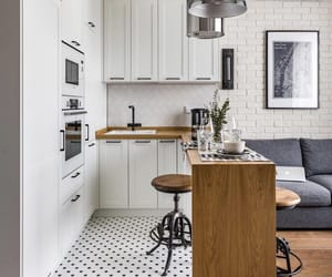 apartment, interior, and kitchen image