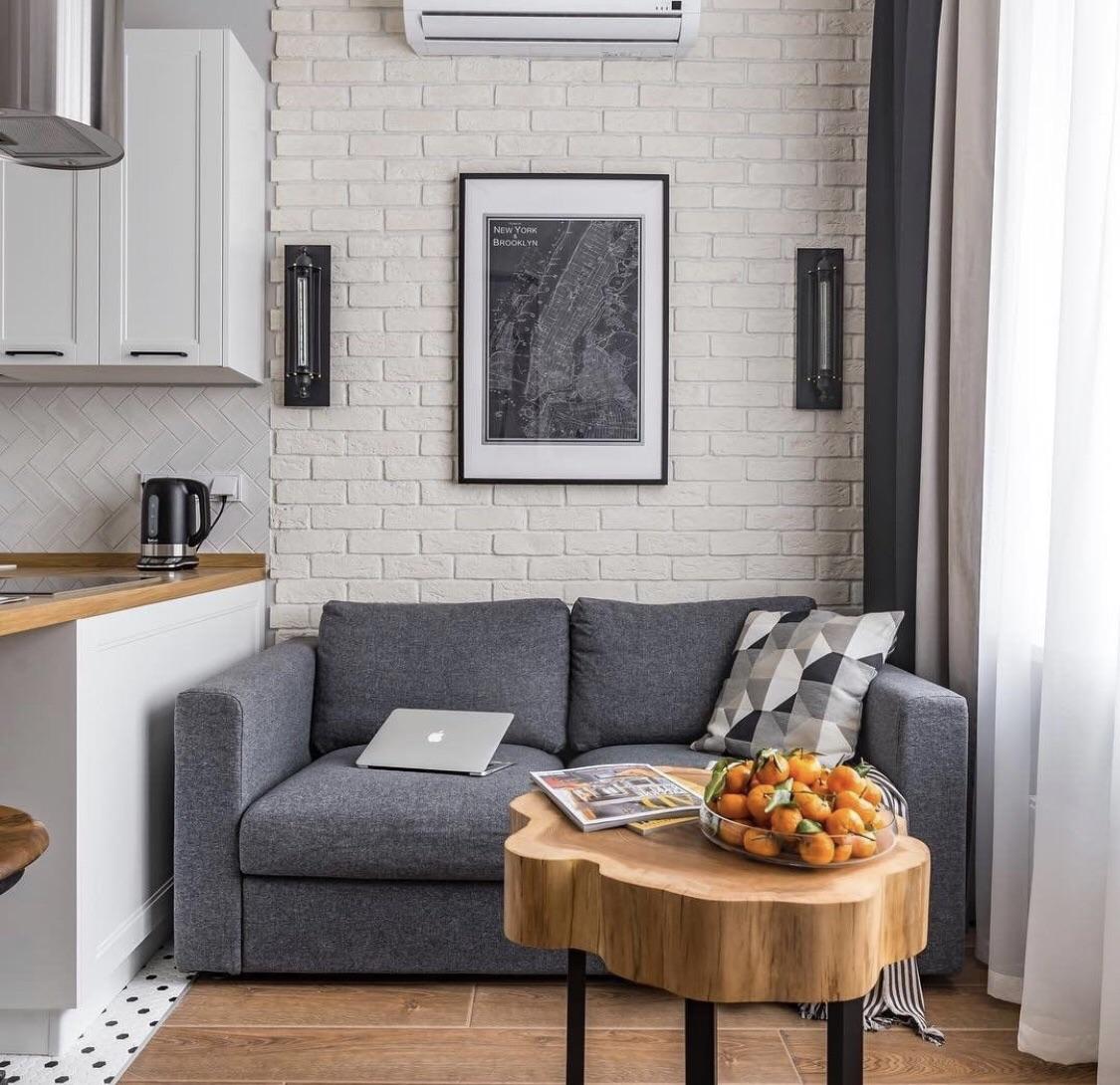 apartment, brick wall, and interior image