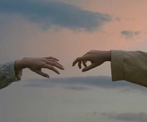 hands, sky, and aesthetic image
