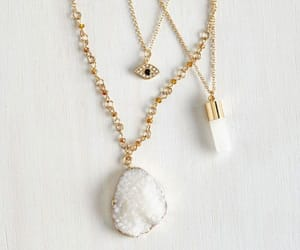 accessories, necklace, and white image