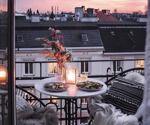 balcony, dinner, and paris image
