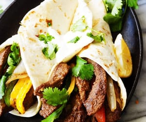 food, steak, and wrap image