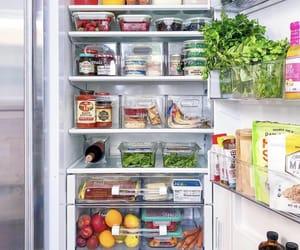 fridge, strawberry, and healthy image