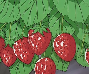 strawberry, anime, and 90s image
