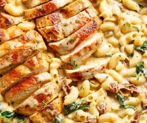 pasta, cheesy, and food image