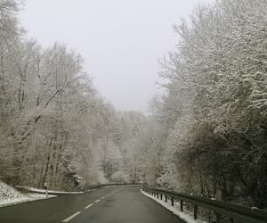 car, germany, and snow image