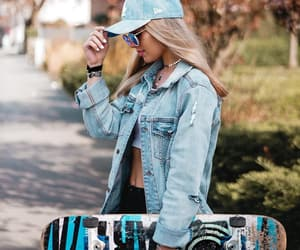 denim, girl, and outfit image