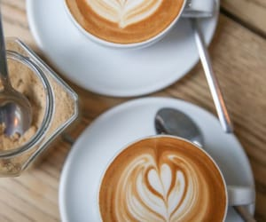 cafe, flat white, and cappuccino image