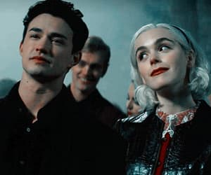 nick, sabrina, and sabrina spellman image