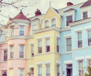 beautiful, pastel, and Houses image