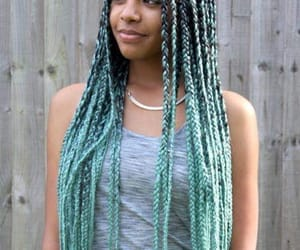 blue, braids, and hair image