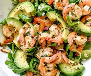 food, avocado, and salad image