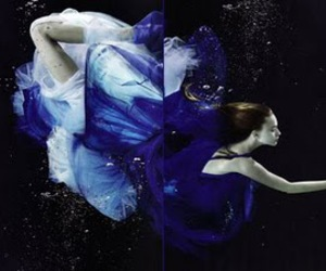 fashion, blue, and underwater image