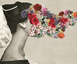 flowers, art, and vintage image
