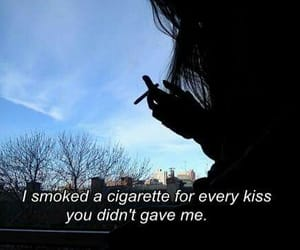 kiss, cigarette, and smoke image
