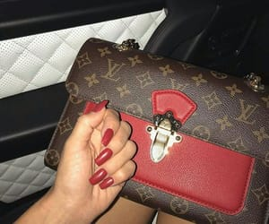bag, nails, and Louis Vuitton image