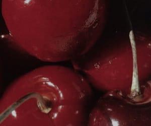 cherries, cherry, and red image