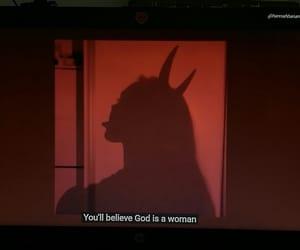 Lyrics, god is a woman, and ariana grande image