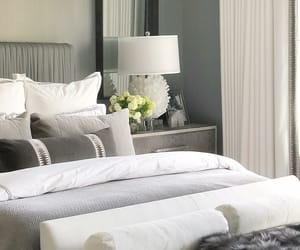 bedroom, gray, and grey image