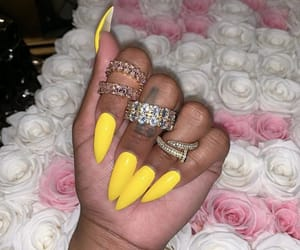 diamond, glam, and nails image