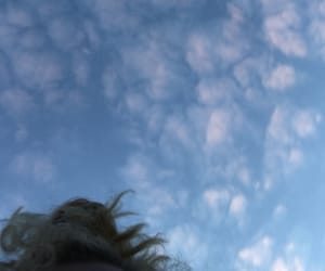 aesthetic, clouds, and blonde image