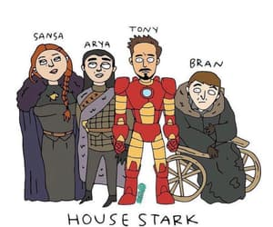 tony stark, game of thrones, and house stark image