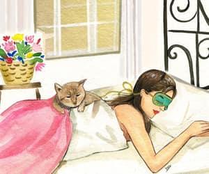 dibujo, sweet dream, and Gatos image