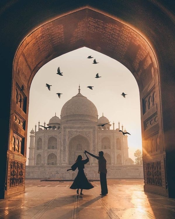 Taj Mahal , India on We Heart It