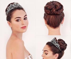 2000s, bun, and crown image