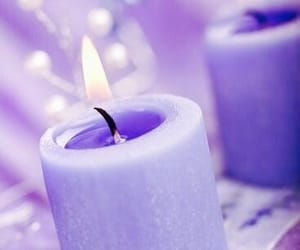 candle and purple image