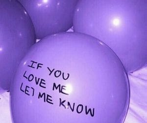 love, balloons, and purple image