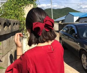 aesthetic, asian girl, and bow image